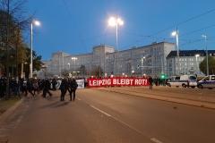"""Blick auf die Demonstration """"Leipzig nimmt Platz"""""""